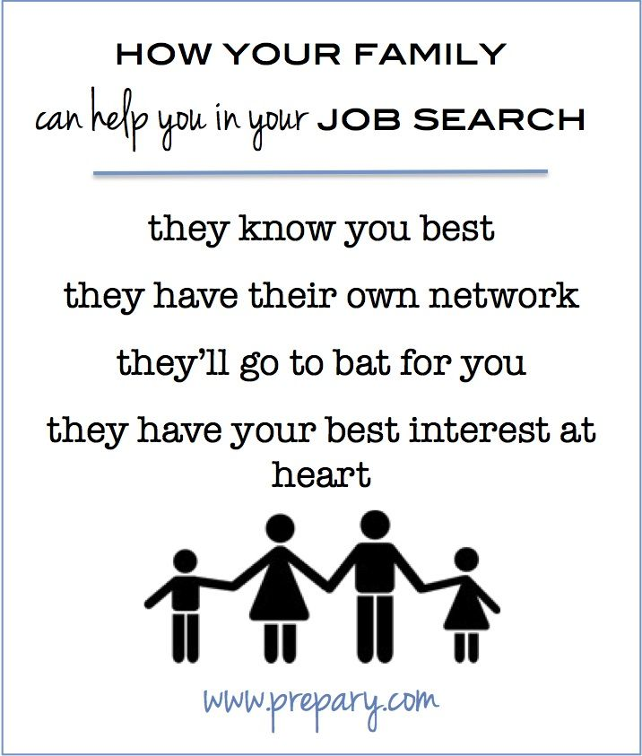 How Your Family Can Help You In Your Job Search Job Search Resume Writing Services Job