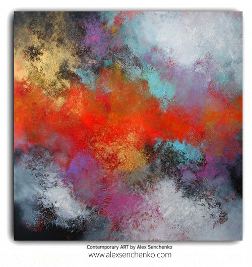 ABSTRACT PAINTING BY ARTIST ALEX SENCHENKO