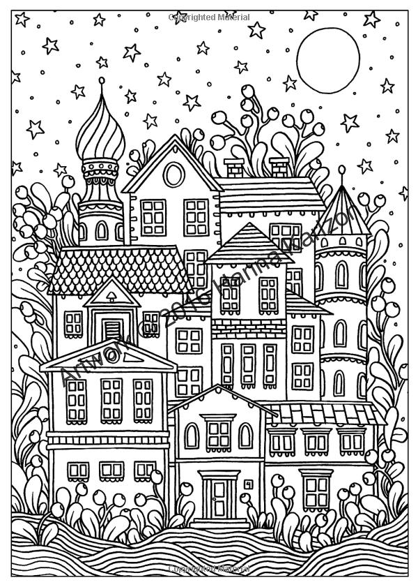 Winter Dreams 20 Postcards Originally Published In Sweden As Quot Vinterdrommar 20 Vykort Att Farglagga Zen Doodle Patterns Doodle Drawings Doodle Patterns