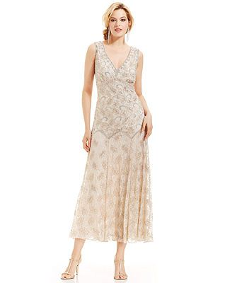 30afc011e9e Pisarro Nights Sleeveless Beaded Lace Gown - Macy s. Pisarro Nights  Sleeveless Beaded Lace Gown Gowns Online