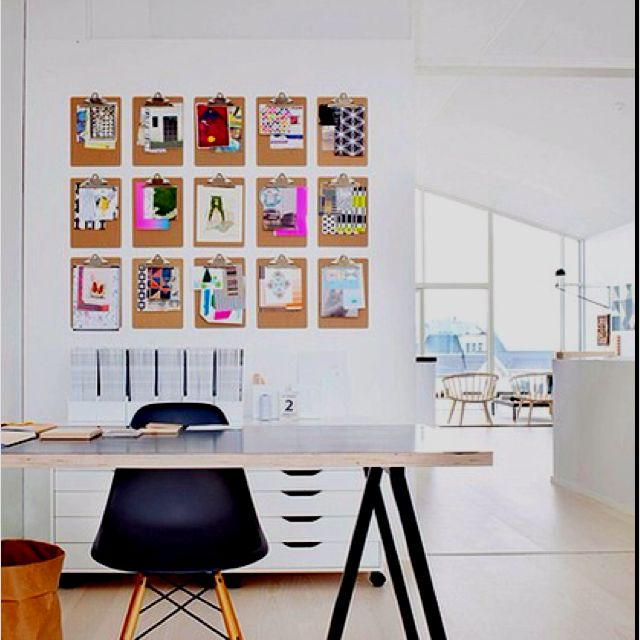 Clipboard wall.   Arbeitszimmer   Home Office   Home ...