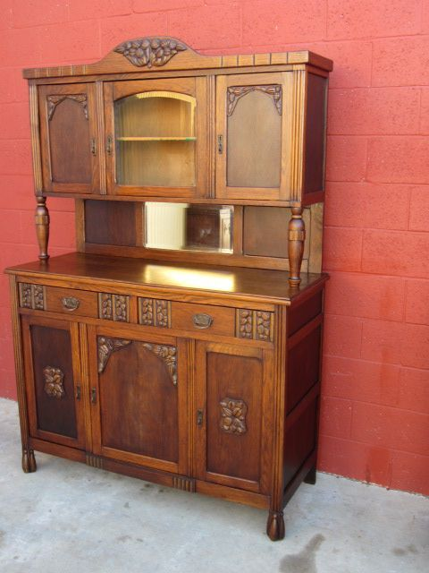 French Art Deco Hutch Cabinet Server Art Deco Furniture From