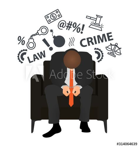 Businessman in handcuffs. Business crime. Flat style modern vector illustration. Man Has Clasped Head Hands. , #Aff, #crime, #Flat, #style, #Businessman, #handcuffs #Ad