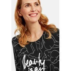 Photo of Hemd mit kunstvollem Muster Bio-Baumwolle Schwarz Gerry Weber