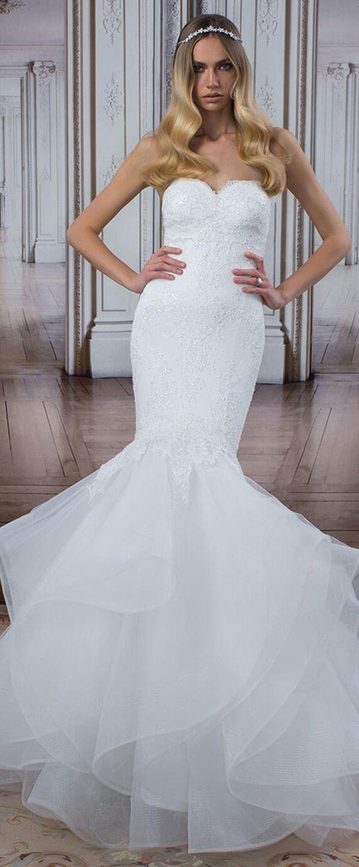 Elegant Tulle Sweetheart Neckline Mermaid Wedding Dresses With ...