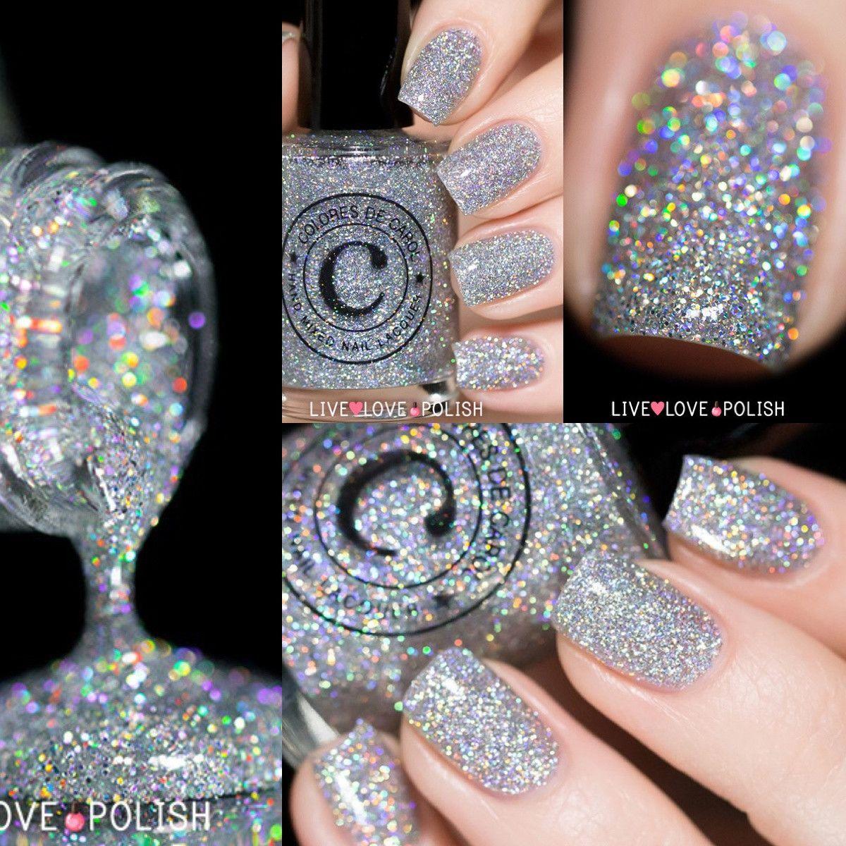 Holographic silver glitter nail polish! livelovepolish.com | Nailed ...