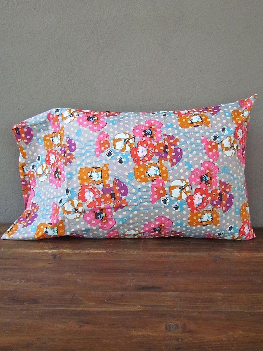 idlewild: spotted poppy pillow case | redinfred duvet + euros available by custom order