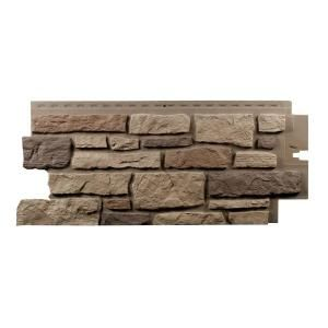 Exteria Rocky Mountain Clay Creek Ledge Stone Premium 19 25 In X 45 75 In Polypropylene Panel In Carton Of 10 28pcrmclf The Home Depot Faux Stone Veneer Stone Veneer Panels Ledgestone