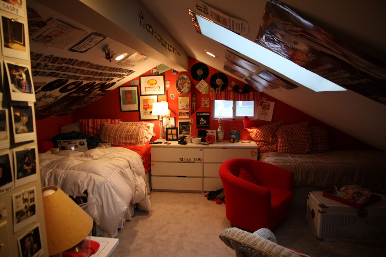 This Was My Attic Bedroom Growing Up The Walls Are Covered In Old