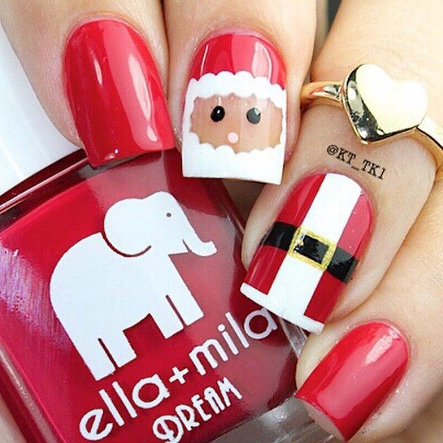 C , Picture inspiration only Santa nails