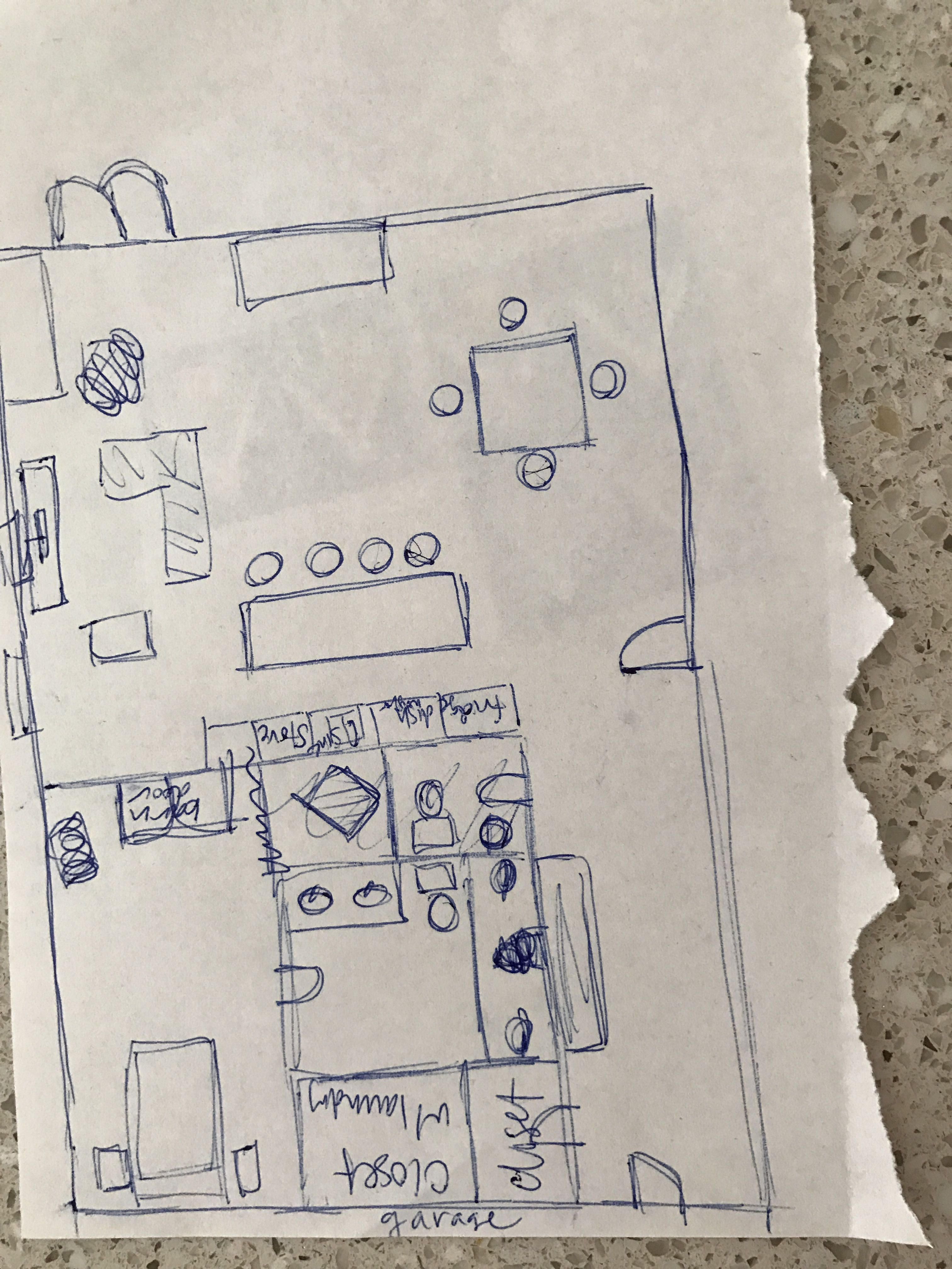 Rough Sketch Of Possible Condo Home Main Floor Layout Floor Layout Flooring How To Plan