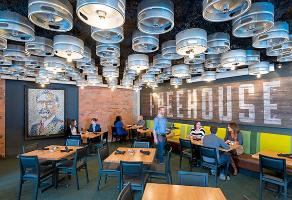 The Fifth Wall Tap Room Ceiling Design Restaurant Interior
