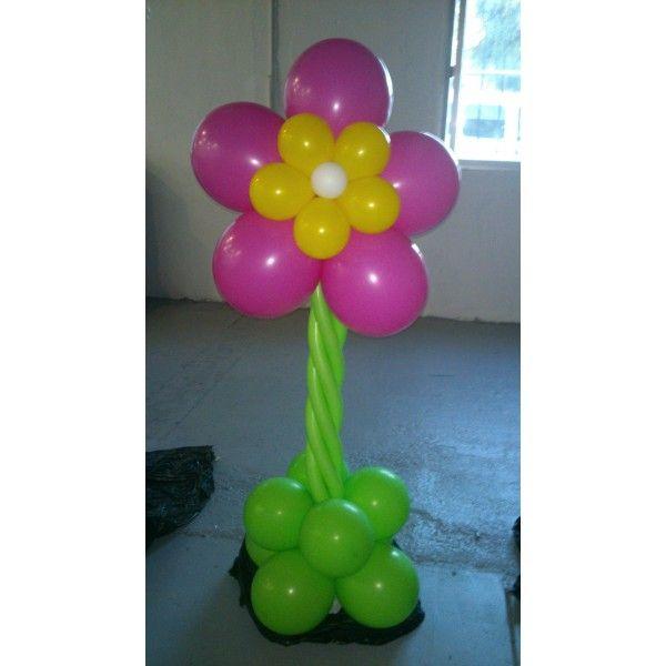 decorar columnas con globos flores buscar con google