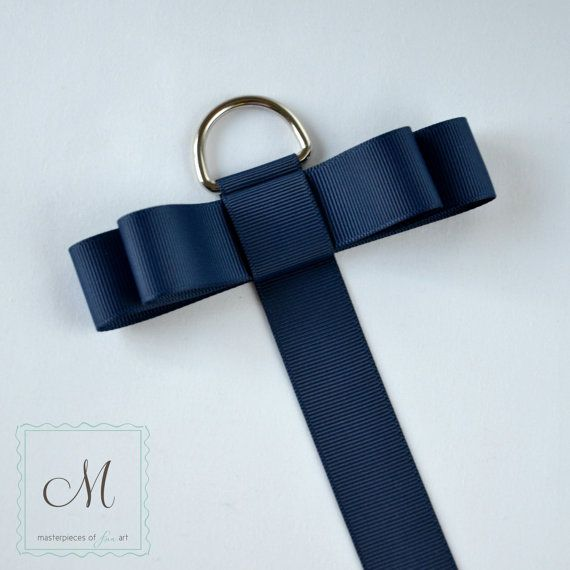 Navy Blue Grosgrain Ribbon Hair Clip Organizer Hair Bow Holder