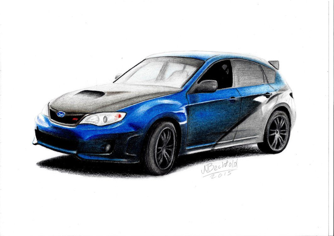 Subaru Impreza Wrx Sti Fast Furious 7 Car Drawing By Maxbechtold