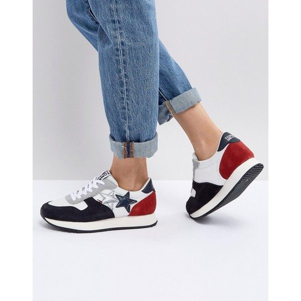 Witte Jean Baskets Tommy Hilfiger Tommy Hilfiger Tommy Sneaker Casual 17ddNQ1hsh