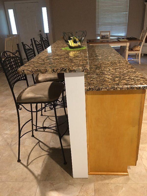How High Should A Knee Wall Be For Granite Countertops Kitchen Remodel Small Kitchen Renovation Contemporary Kitchen Island
