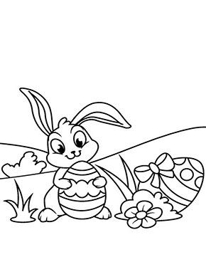 Ausmalbild Osterhase Sitzt Auf Der Wiese Osterhase Ostern Farben Kostenlose Ausmalbilder
