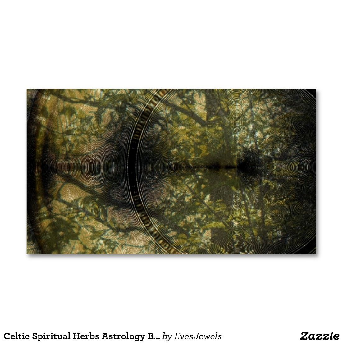 Celtic Spiritual Herbs Astrology Business Cards | Business Cards ...