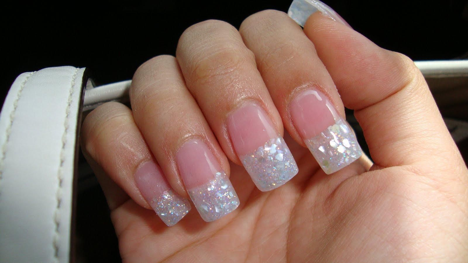 29 glitter acrylic nail art designs ideas design trends double french tip nail designs with glitter nail designs glitter nail art ideas prinsesfo Image collections