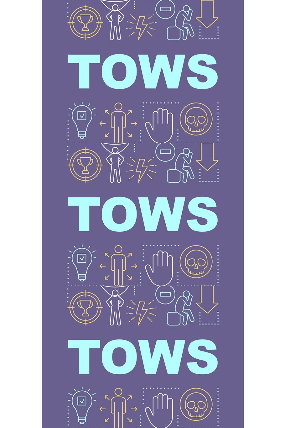 Tows Purple Word Concepts Banner In 2020 Lettering Outline Illustration Banner