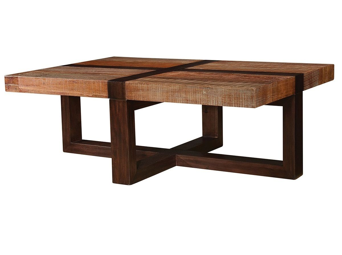 bryan reclaimed wooden coffee table | best eclectic modern, tables