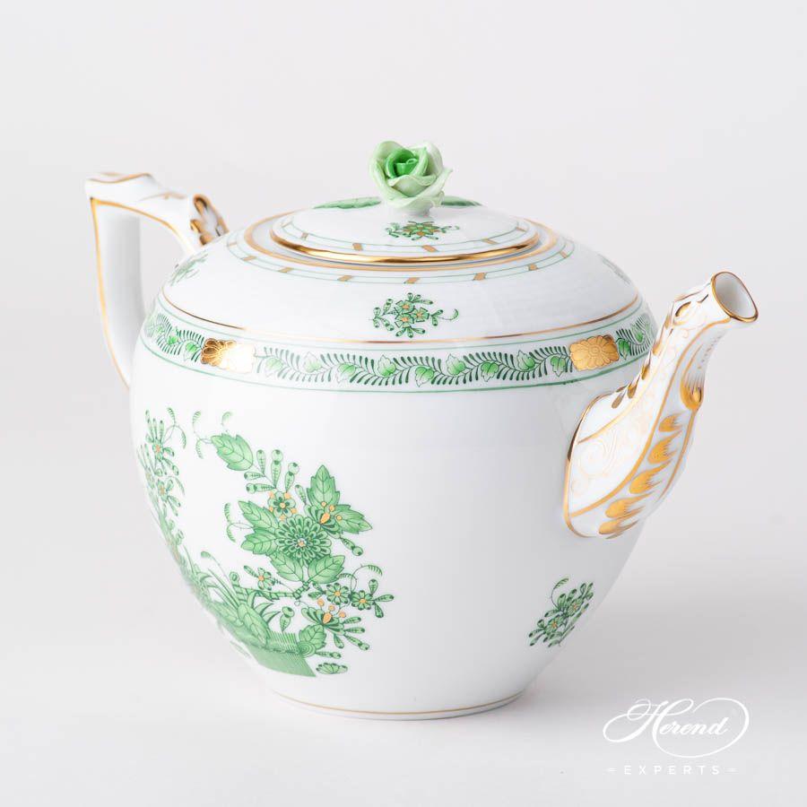 Tea Pot - Indian Basket Green #teapots