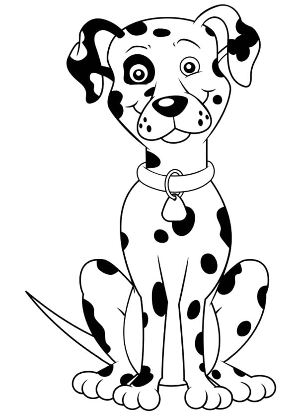 Fireman Sam Fire Dog Coloring Pages : Kids Play Color