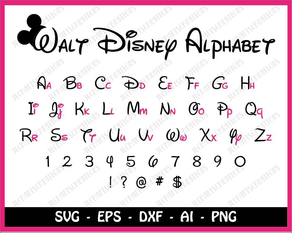 Disney font svg, Walt Disney font svg, Disney svg, Disney