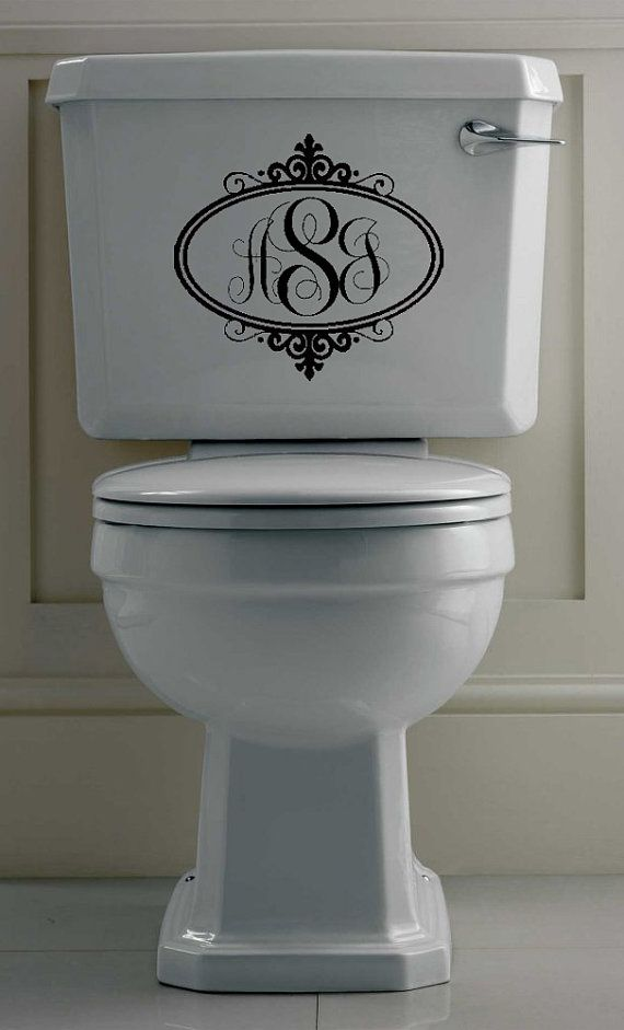 Fancy oval monogram vinyl wall art bathroom by designstudiosigns vinyl wall art decals - Oval wall decor ...