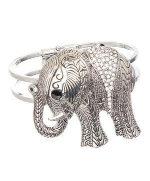 Loving this Ten79LA Silver Elephant Bangle on #zulily! #zulilyfinds