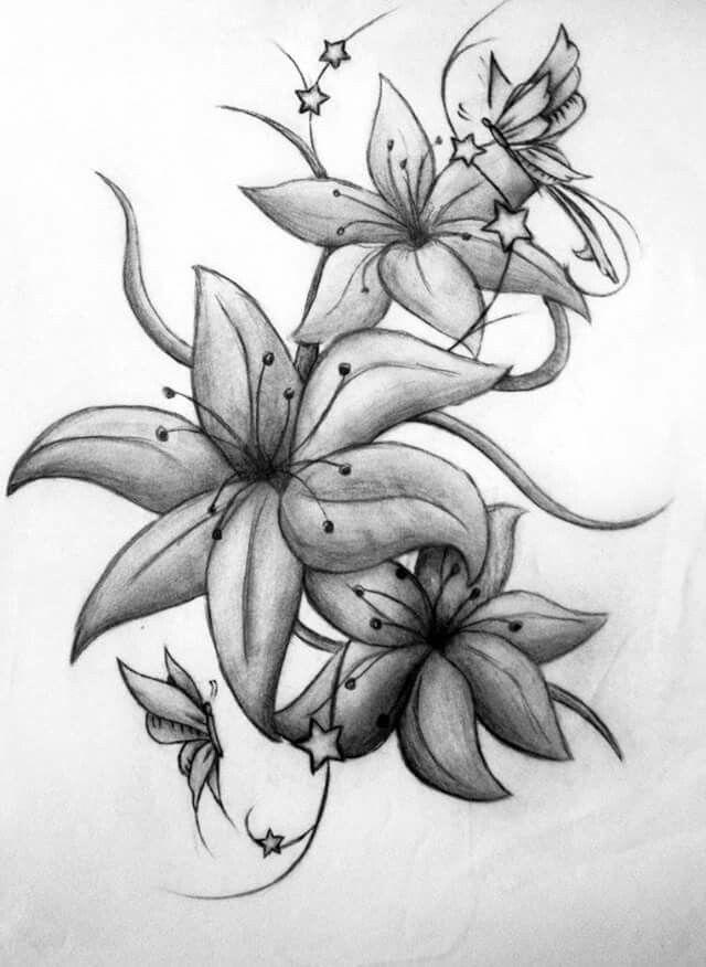 pin von ashley smith auf lilies tattoo pinterest blumen. Black Bedroom Furniture Sets. Home Design Ideas