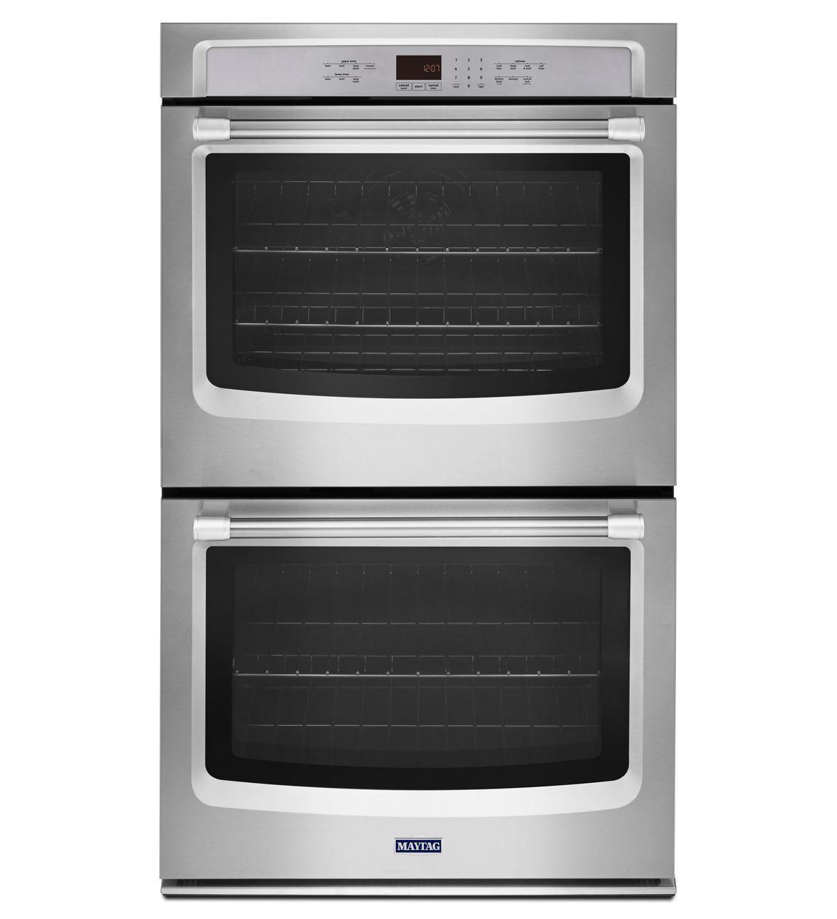 kitchenaid 27 double wall oven white