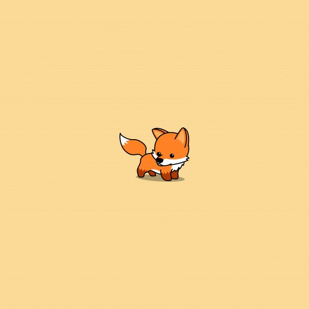 Cute Baby Fox Cartoon Icon
