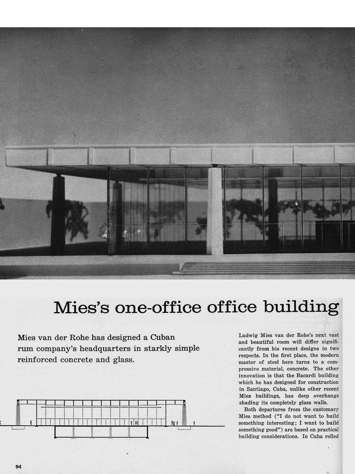 Carlos Alberto Fleitas Cuba Collection Ludwig Mies Van Der Rohe Office Building Mies Van Der Rohe