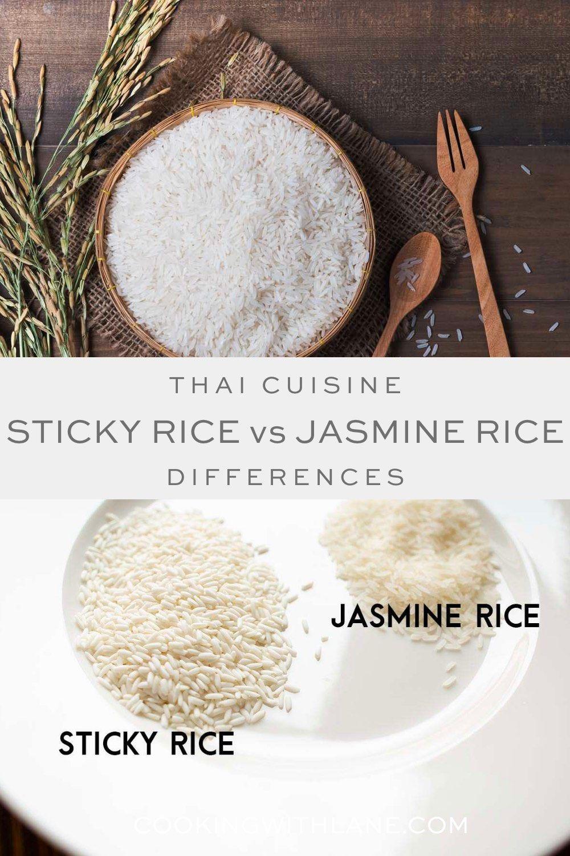 Learn how to make sticky rice versus jasmine rice. Super easy recipe to make! #jasminerice #ricerecipe #stickyrice #ricerecipe