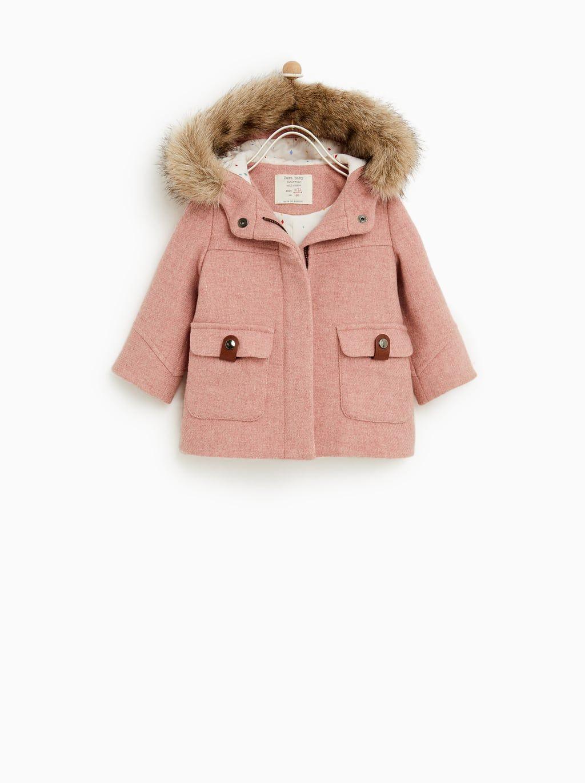 f6d58499 Image 1 of HOODED PARKA from Zara Zara Kids, Teddy Clothing, Hooded Parka,