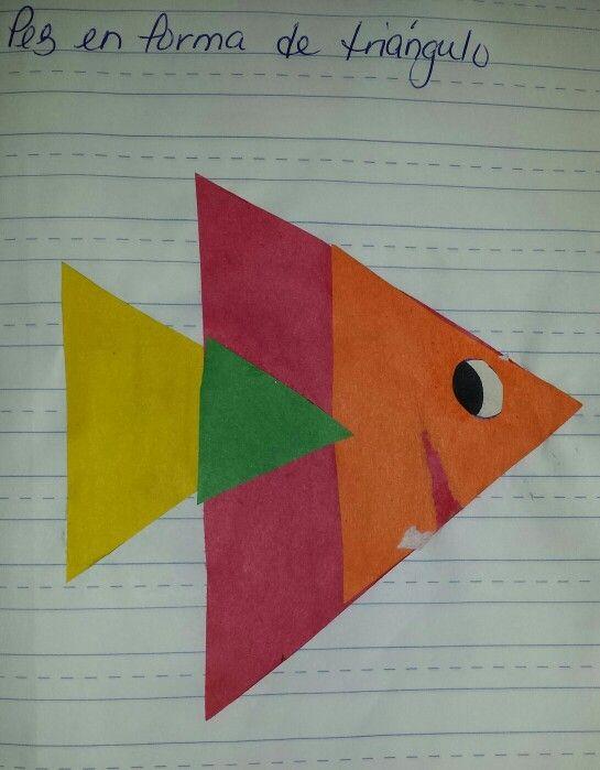Destreza: triángulo Pez creado con triángulos de diferentes tamaños ...