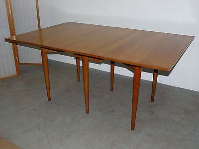 Vintage Conant Ball Drop Leaf Dining Table Mid Century Modern