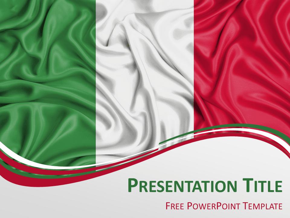Italy Flag Powerpoint Template Presentationgo Com France Flag Powerpoint Templates Italy Flag