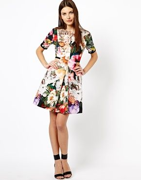 7a3a00632 Ted Baker Dress in Tangled Floral Print