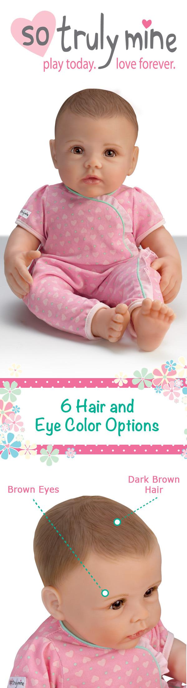 Bitty Baby Light Brown Hair Blue Eyes