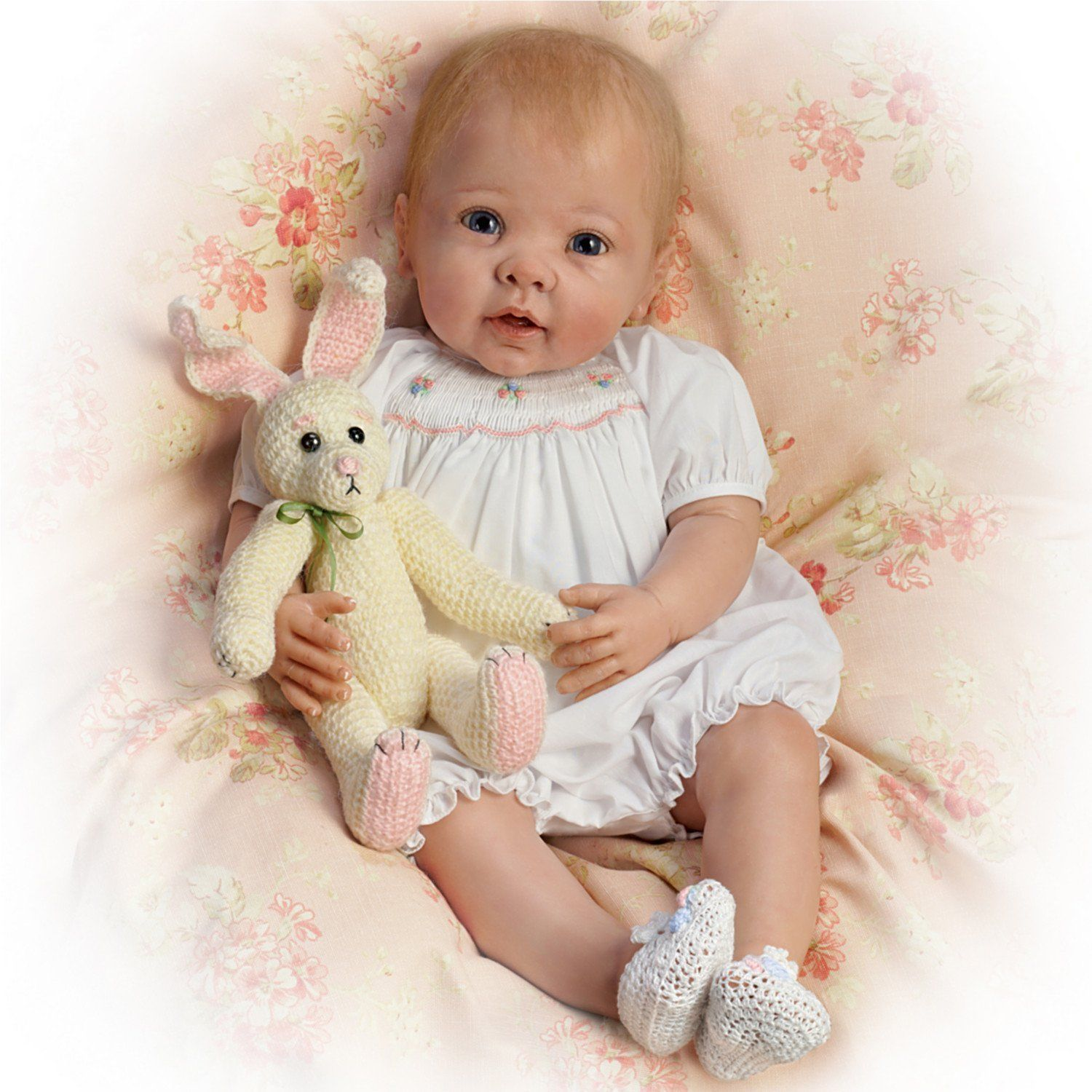 Elizabeth Weighted /& Poseable Baby Doll by Ashton Drake New NRFB