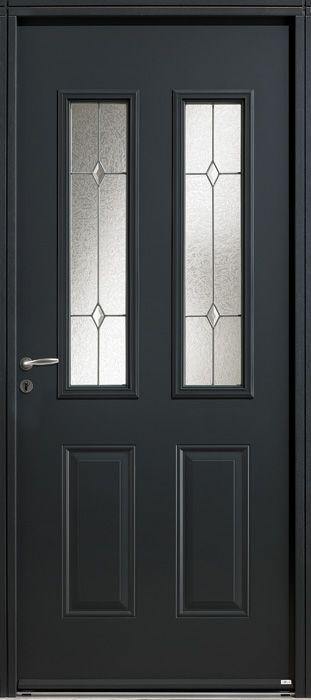 Porte d\u0027entrée acier Zilten, modèle Galena What #DécoToday - couleur des portes interieur