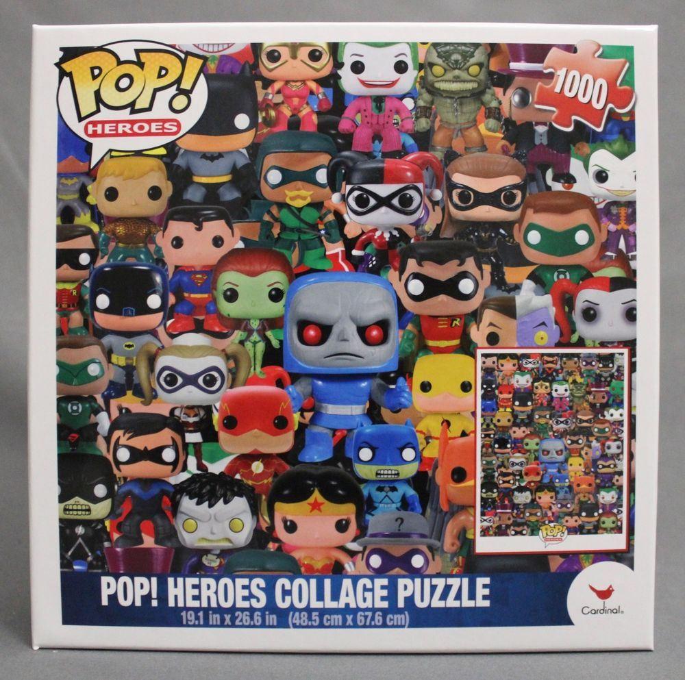 Funko Dc Comics Pop Heroes Collage Jigsaw Puzzle 1000 Pieces Funko Pop Heroes Collectibles Blakpuzzle Com