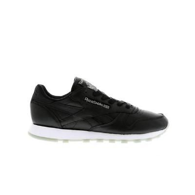5bfbf5d3aa3 Womens REEBOK CL LEATHER METALS Black Trainers BD5409 Neue Trends
