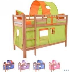 Photo of Bunk bed play bed solid beech wood, natural, incl. Roller grate 90 x 200 cm Mark Natur Color 415xxl