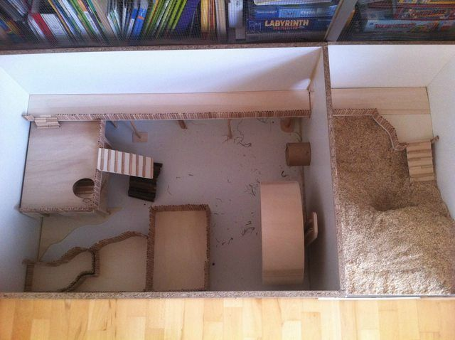 Simple And Large Wooden Diy Cage From Germany Hamster Central