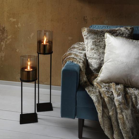 Wohnzimmer Farbe Gold: Windlicht Theo Schwarz/Goldfarben Online Kaufen Mömax