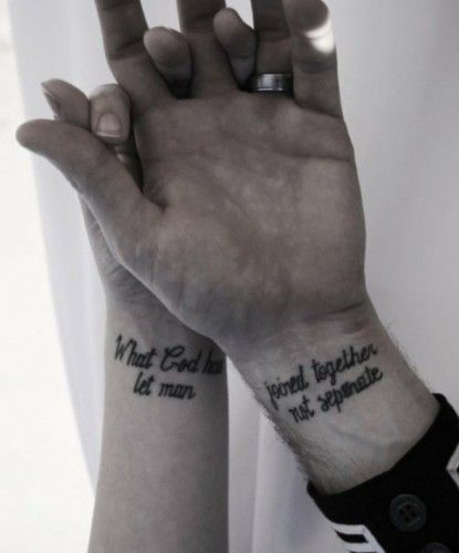 d3d7a0e18801b Couple Tattoo Ideas to Replace Engagement Rings   Helpful Hints for ...
